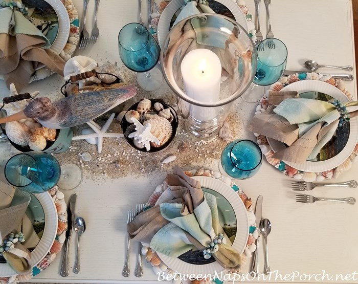 Nautical Summer Table Setting Tablescape