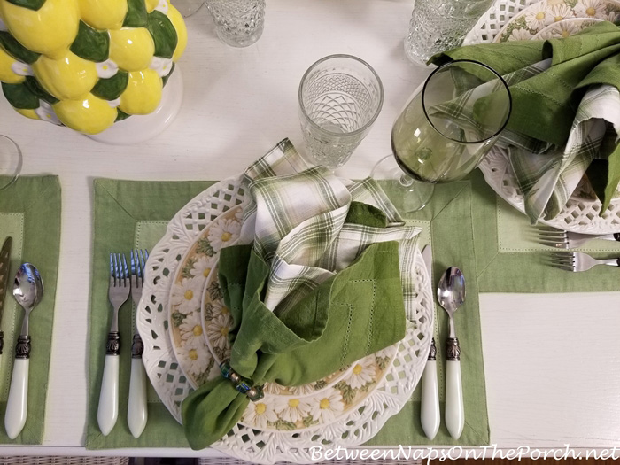 Pierced Charger Plate in a Summer Table Setting