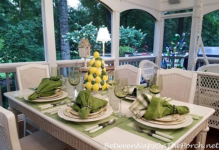 Porch Dining for Summer, 2018