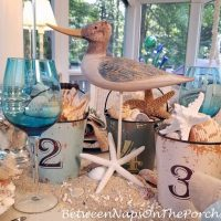 Seabird for a Nautical Beach Table Setting