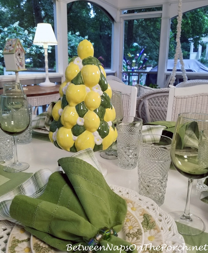 Vintage Ceramic Lemon Tree