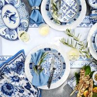 Fall Dinnerware Shopping & Beautiful Embossed White Chargers On Sale