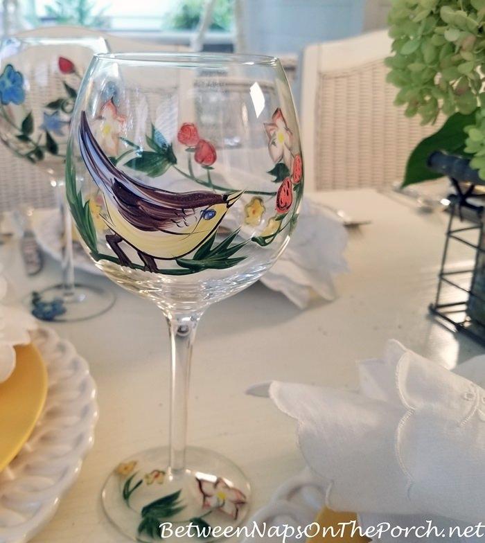 Wine Glasses for Bird Lovers