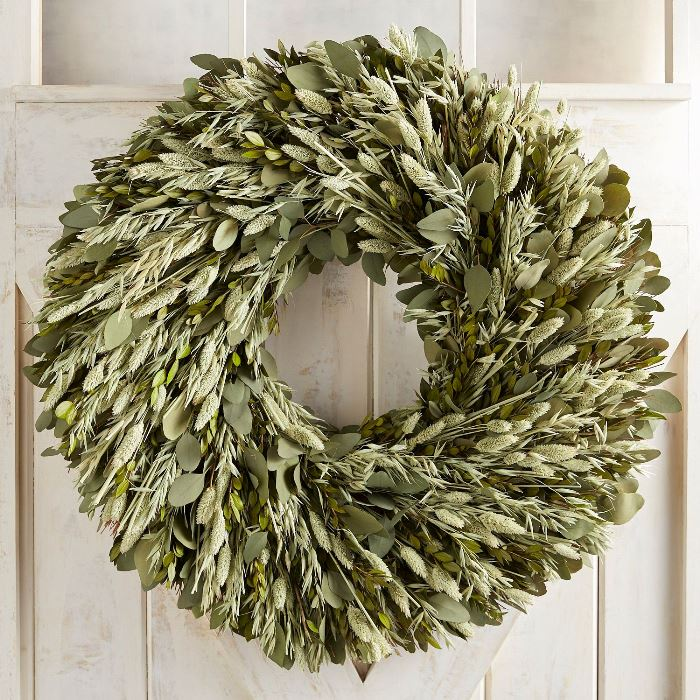 All Green Natural Wreath, Elegant