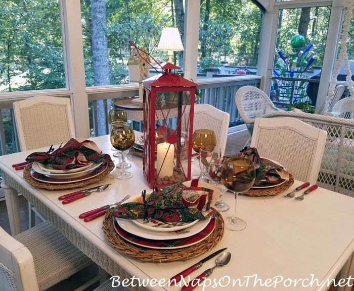 Autumn Tablescape on the Porch