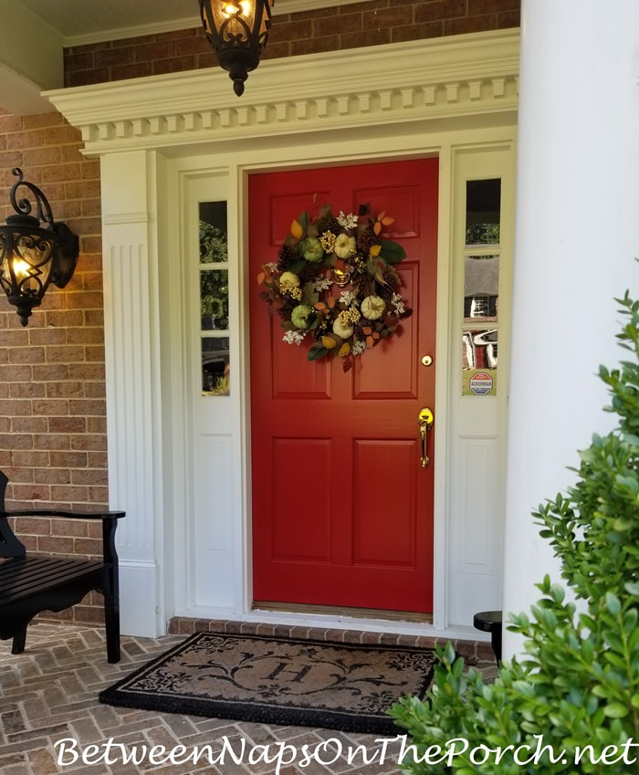 Autumn Wreath for a Red Door
