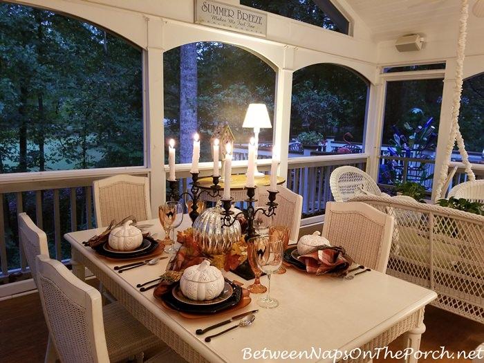 Candlelight Halloween Table