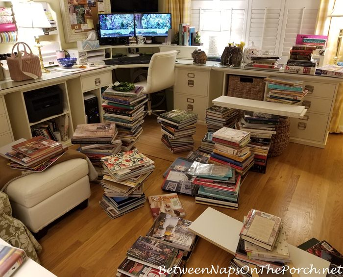 Dept. 56 Lit Houses on Bookcase