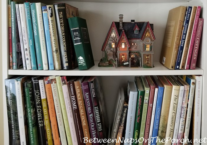 Dept. 56 Literary Classics Lit Houses on Bookcase Shelf