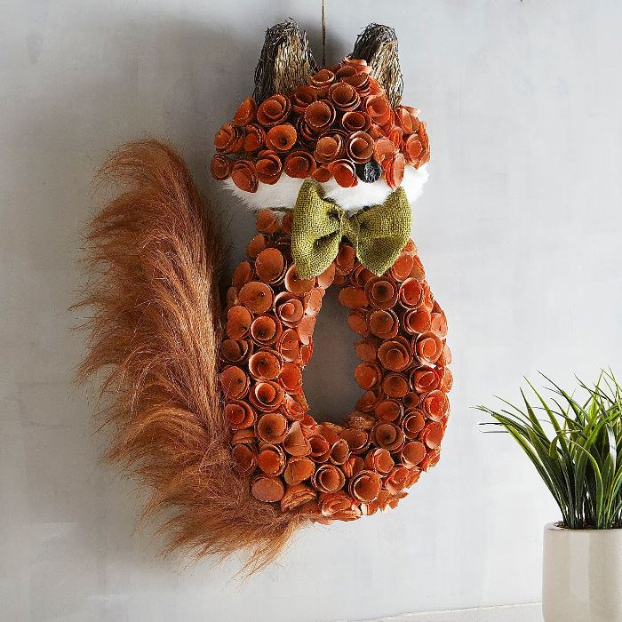 Fox Wreath for Autumn