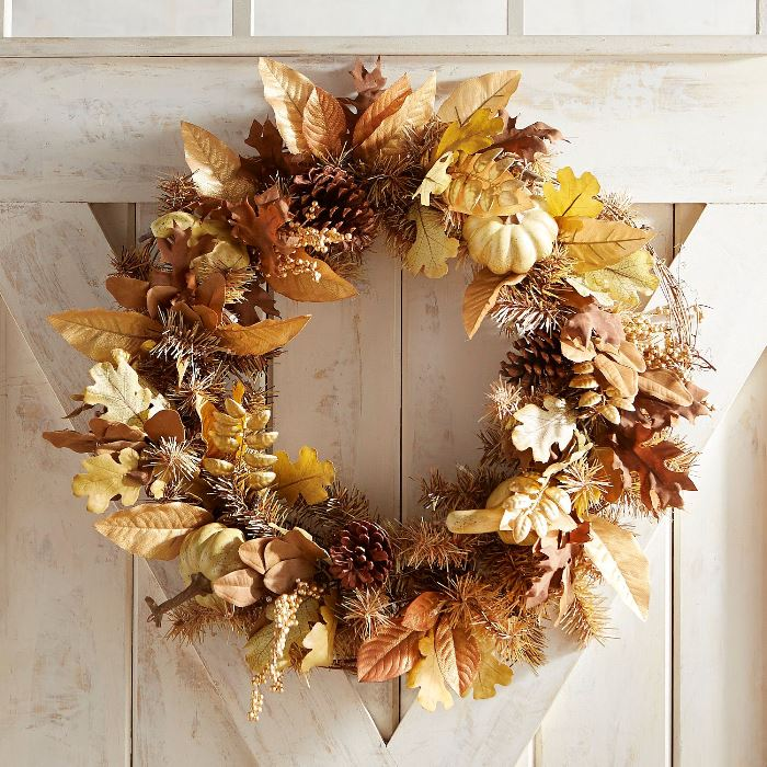 Golden Autumn Fall Wreath