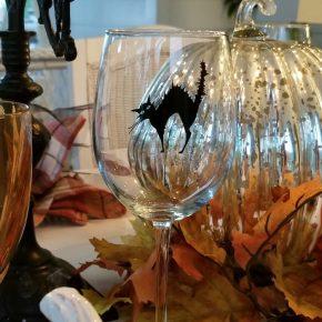 Halloween Cat Wine Glasses