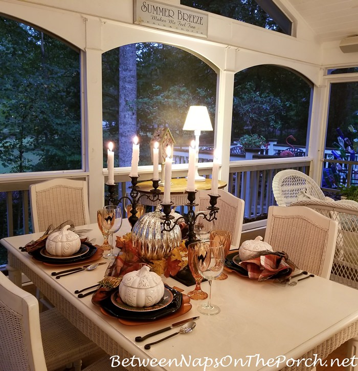 Halloween Table, Candlelight on the Porch