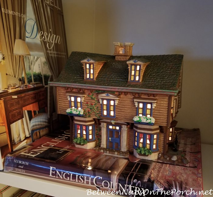 March Residence, Little Women, Dept. 56 Literary Classics Lit House on Bookcase