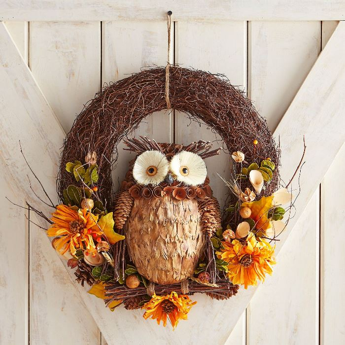 Owl Wreath for Fall