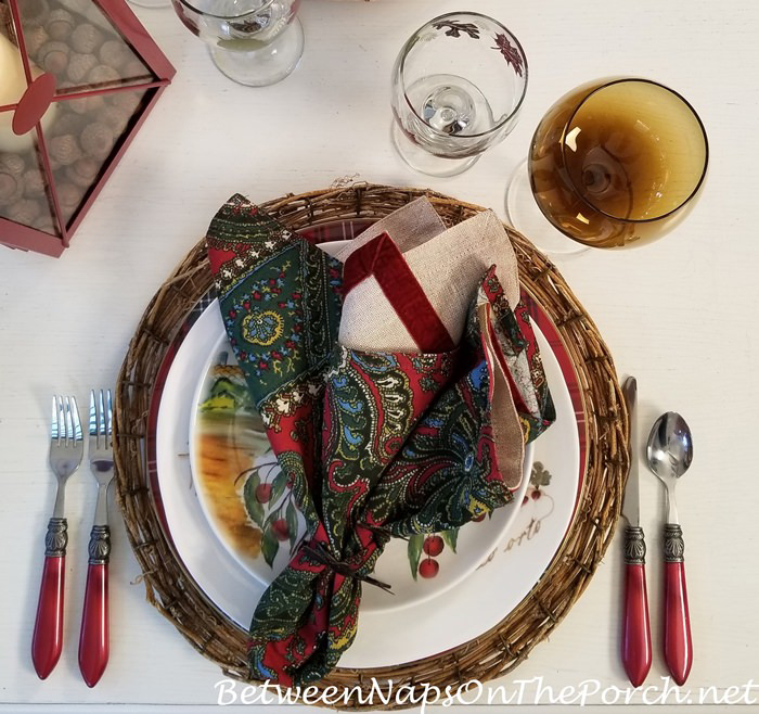 Paisley Napkins in Fall Table Setting
