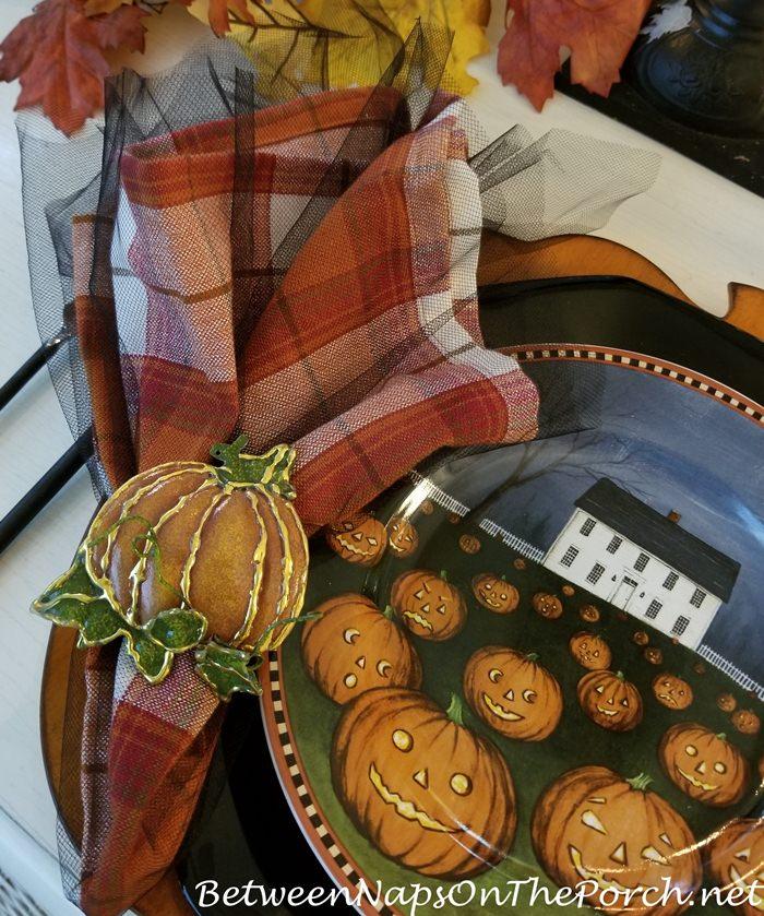 Pumpkin Napkin Rings for Halloween, 2018
