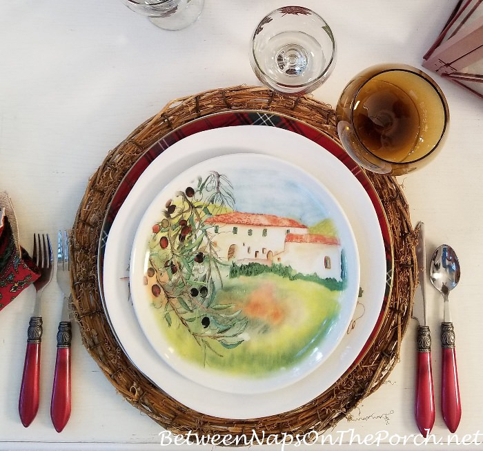 Salad Plates, Italy Scenery, Olive Trees