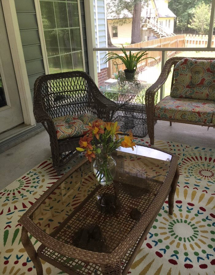 Screened Porch Furniture & Decor