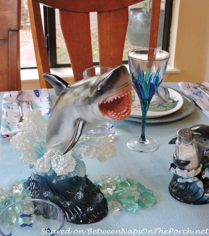Shark Centerpiece for Children's Shark-Themed Table