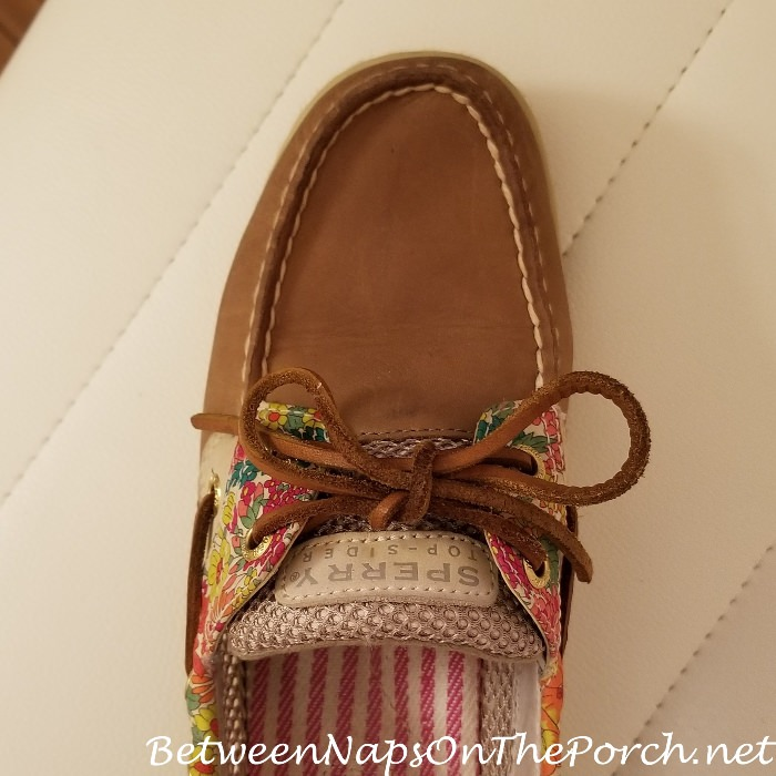Sperry Topsiders Cleaned with Leather Wipes