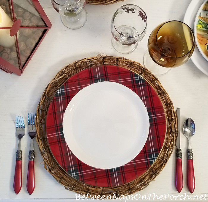 Tartan Plaid Charger Plates