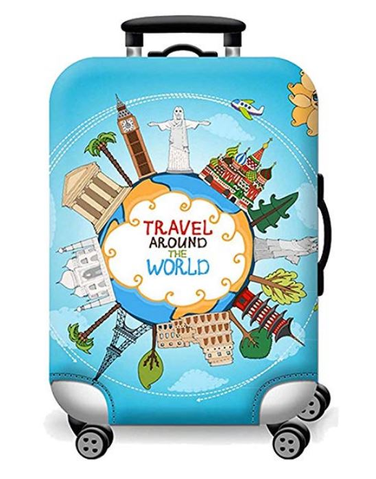 Travel Luggage Cover Hot Air Ballons Pattern Colorful Suitcase Protector