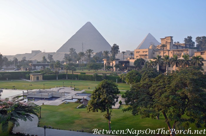 View from Room, Marriott Mena House Hotel, Cairo Egypt