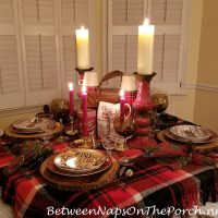 Candlelight Woodland Table Setting for Fall