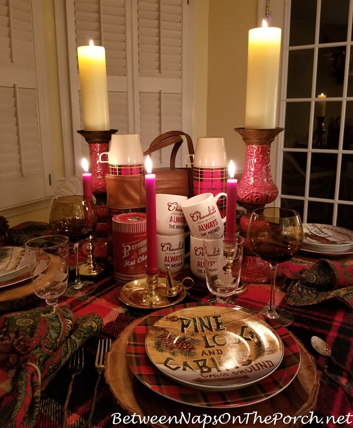 Candlelit Table with Country Lodge Theme