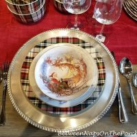 Christmas Place Setting with Tartan Plates