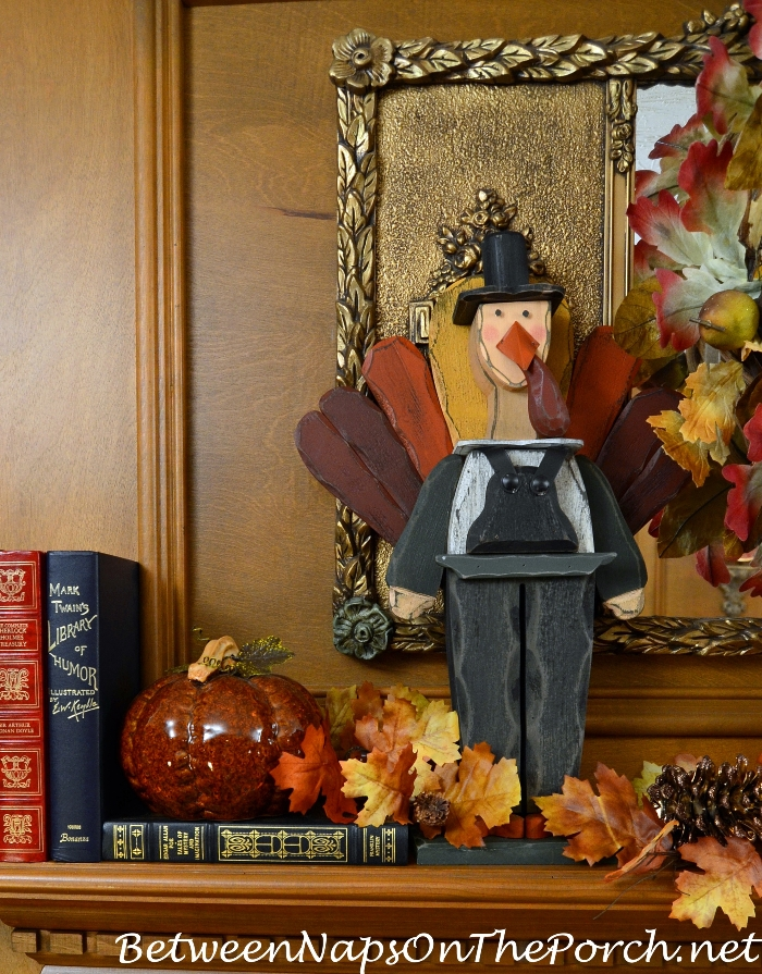 Decorate Mantel for Thanksgiving
