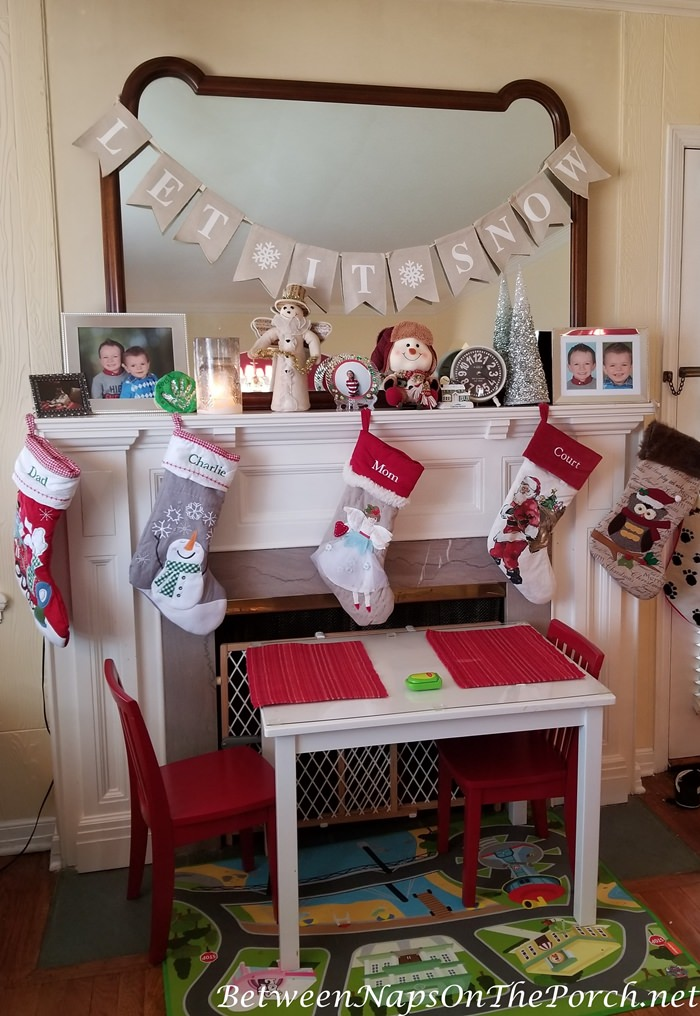 Decorate a Mantel for Christmas