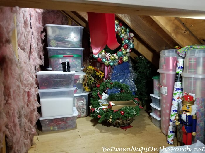 Easy way to add lighting to under eave storage and attics, closets