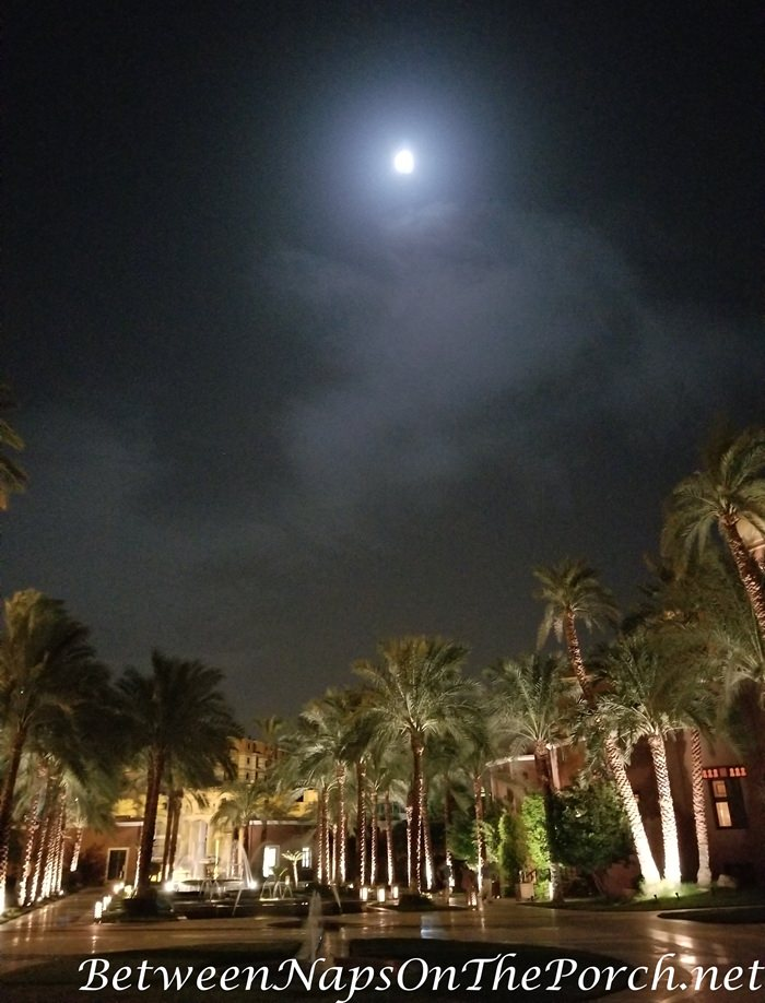 Moonlit night, Sofitel Legend Old Cataract Hotel, Aswan