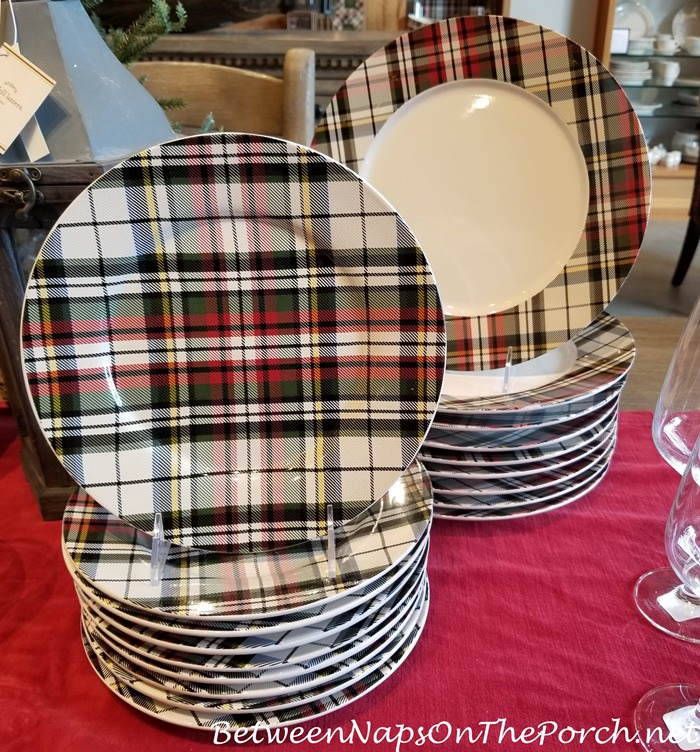 Plaid, Tartan Salad Plates, Denver