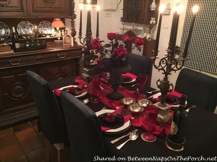 Rustic Antique Candelabras for Halloween Table Centerpiece