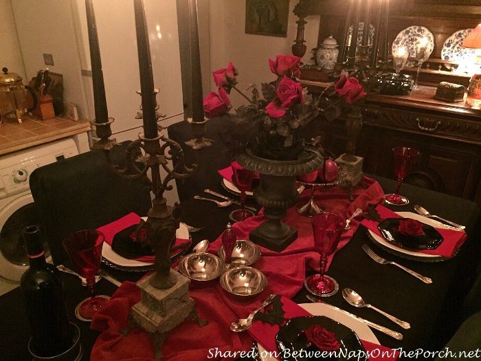 Table Setting for Halloween Dinner Party
