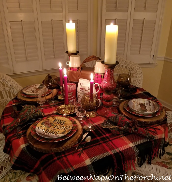 Woodland Lodge Style Table Setting for Fall