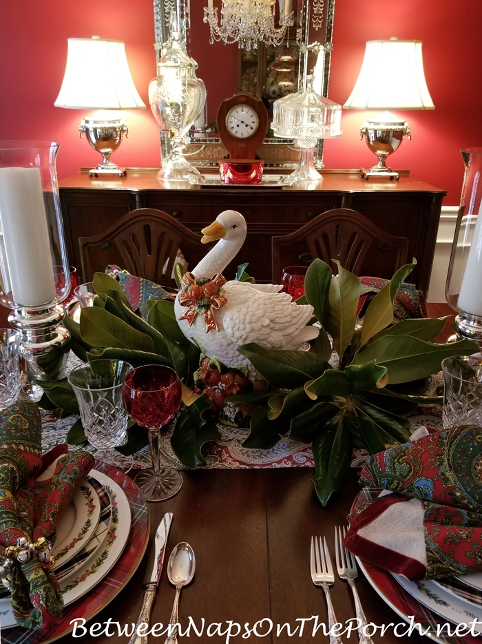 Christmas Table Setting Idea, 12 Days of Christmas