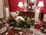 12 Days of Christmas Table Setting with a Guest Appearance by One of the 6 Geese