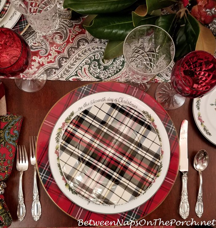 Plaid Salad Plates, Denver Pattern