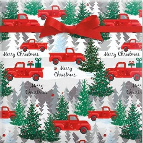 Red Truck Christmas Wrapping Paper