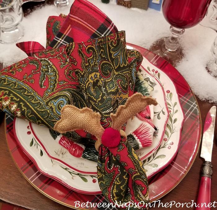 Reindeer Napkin Rings, Rudolph