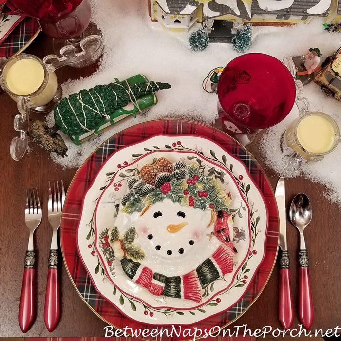 Snowman Appetizer Plates, Hallmark CR