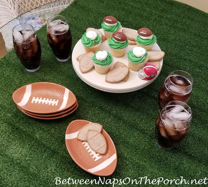 A Super Bowl Party Table