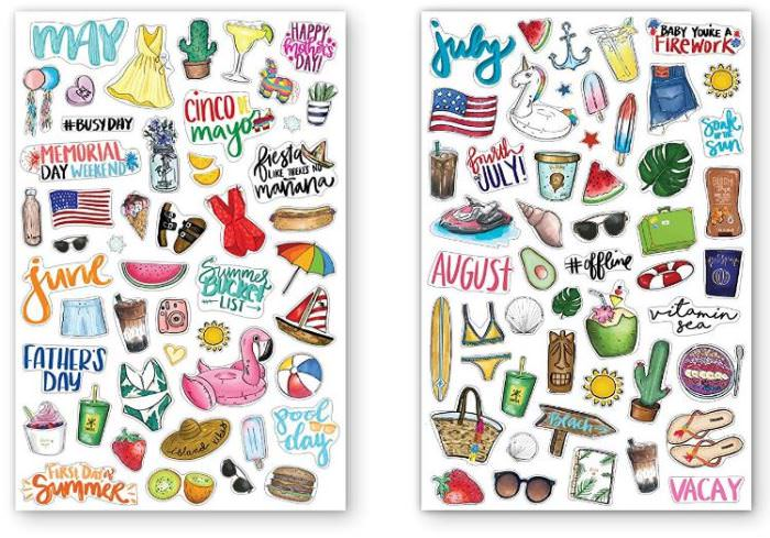 Agenda Holiday & Reminder Stickers