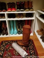 Easy Storage for Winter Boots, Keeps Them Upright-No Slouching or Falling Over