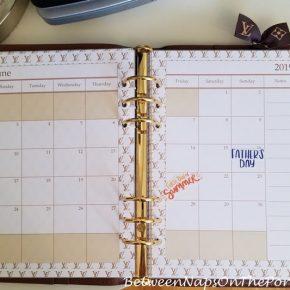 Calendar Pages Insert for Louis Vuitton Agenda