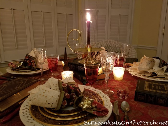 Candlelight Dinner on a cold January Night, Book Club Meeting